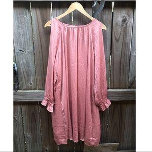 NWT pink Old Navy cold shoulder dress XL